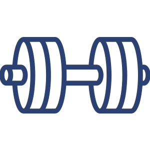 Blue Dumbell Icon