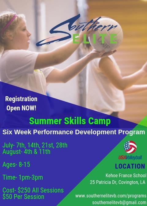 Summer Skills Camp Flyer 2019
