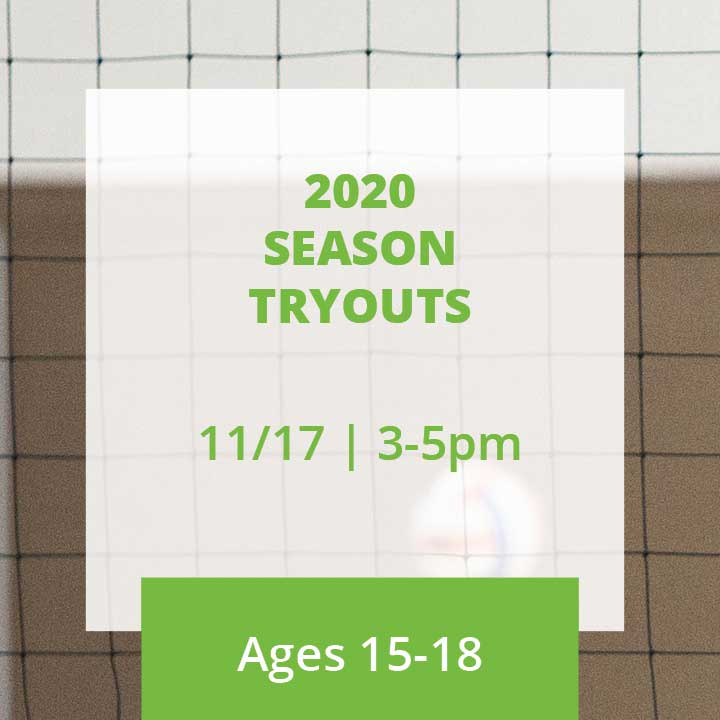 2020 Season Tryouts Ages 15-18